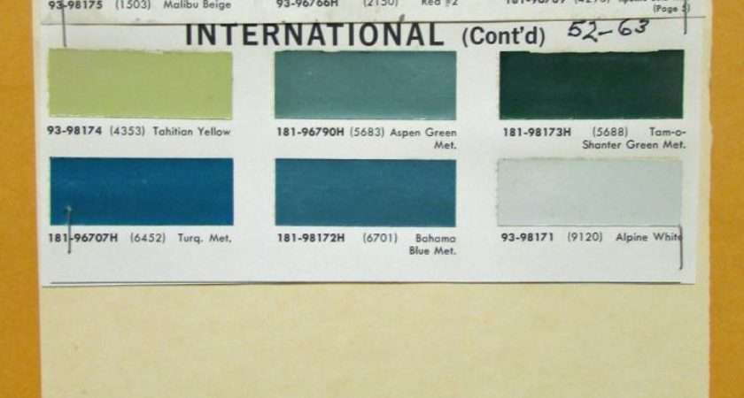 International Truck Paint Code Location Color Ideas