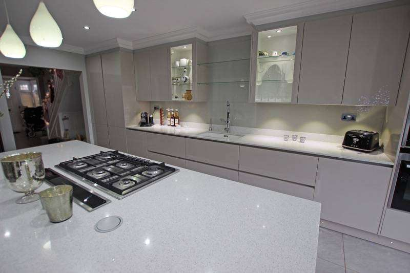 Island Kitchens Open Plan Galley Shaped