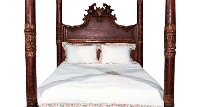 Italian Carved Four Poster Bed Stdibs