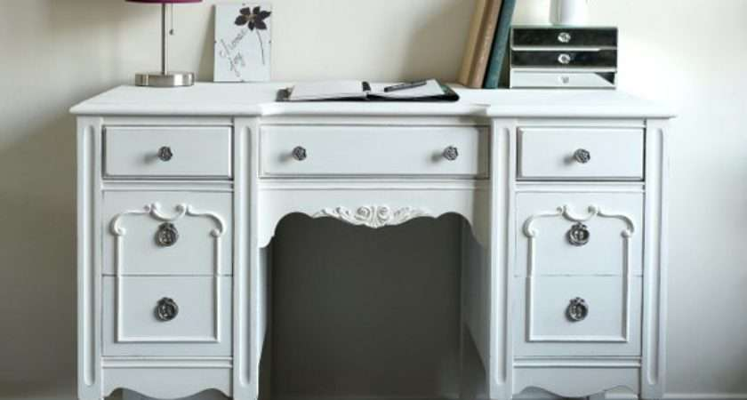 Items Similar Antique Desk Vanity White Shabby Chic