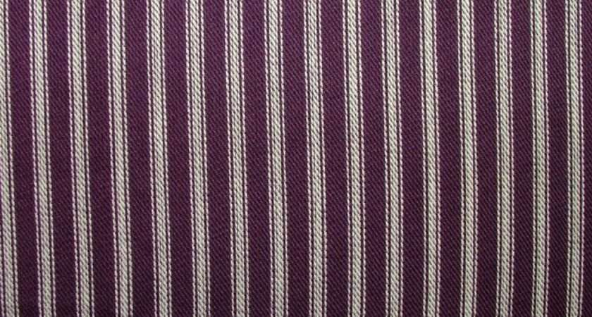 Ives Mulberry Cotton Woven Ticking Curtain