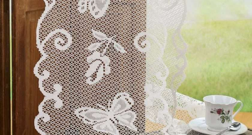 Ivory Lace Butterfly Doily Table Runner Crochet