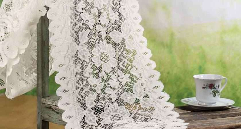Ivory Lace Doily Table Runner Crochet Doilies