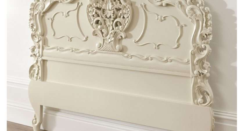 Ivory Rococo Antique French Headboard Available Now