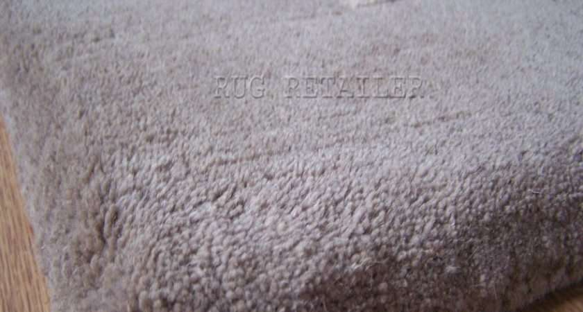 Jacaranda Chunky Velvet Rugs Natural Grey Wool Pile