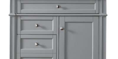 James Martin Brittany Collection Single Vanity Urban Gray