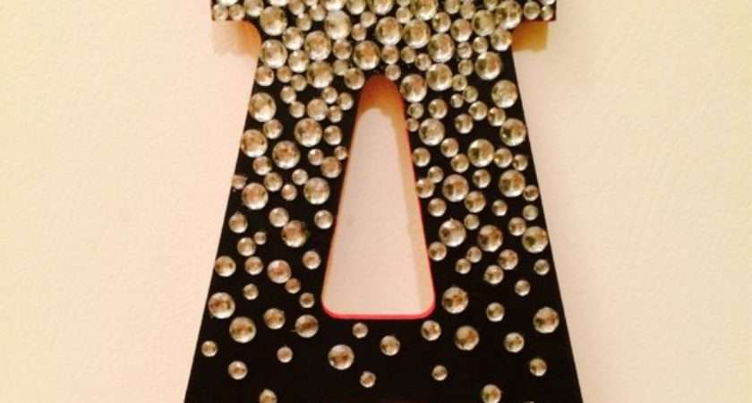 Jeweled Wooden Letter