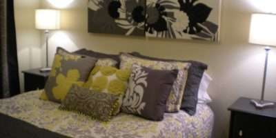 Jilly Stampin Studio Gray Yellow Bedroom