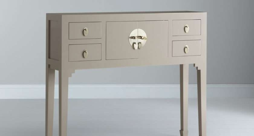 John Lewis Iris Small Console Table Oyster