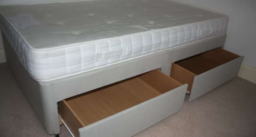 John Lewis Small Double Divan Bed Drawers Mattress Included