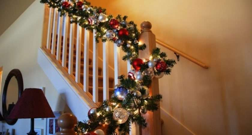 Joy Bannister Decorated Garland Adorned Beautiful