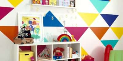 Jumbo Triangles Vivid Wall Decals