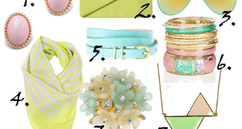 Just Time Spring Pastel Accessories Under