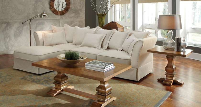 Karlee Linen Upholstery Traditional Cottage Style
