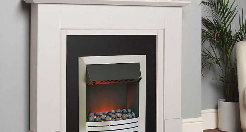 Katell Coniston White Electric Fire Suite Freemans