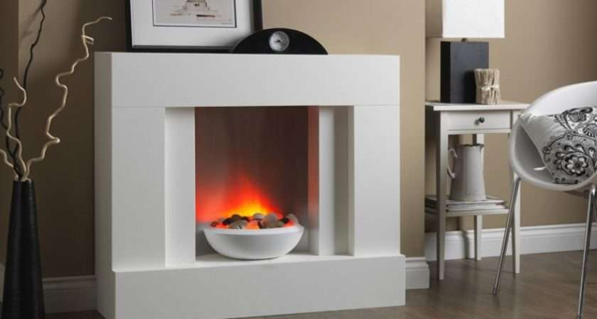Katell Eclipse Floor Standing Electric Suite White Finish