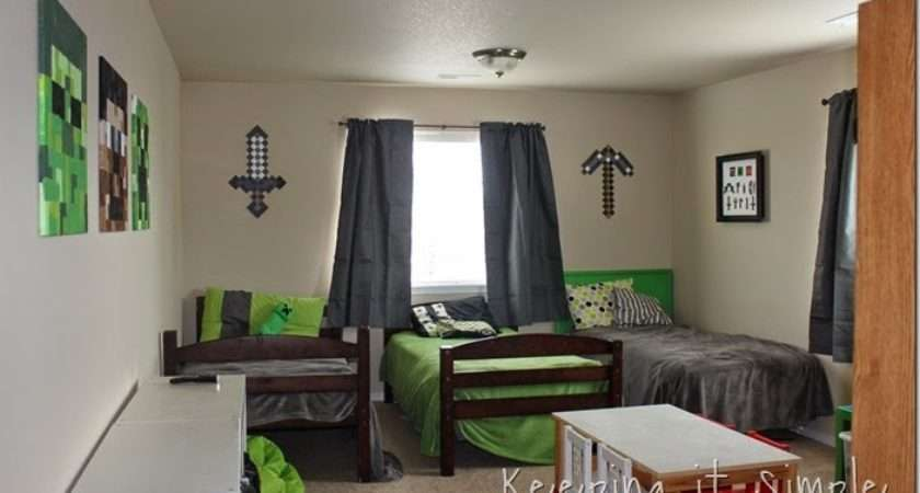 Keeping Simple Minecraft Boy Room Cor Idea Large