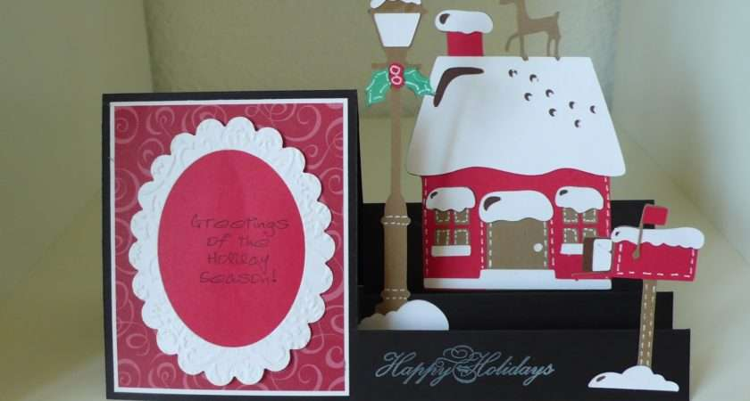 Kelly Memory Craft Christmas Card House Side Step