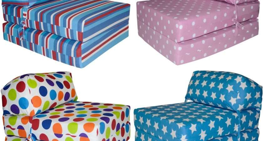 Kids Fold Out Chair Bed Prints Deluxe Guest