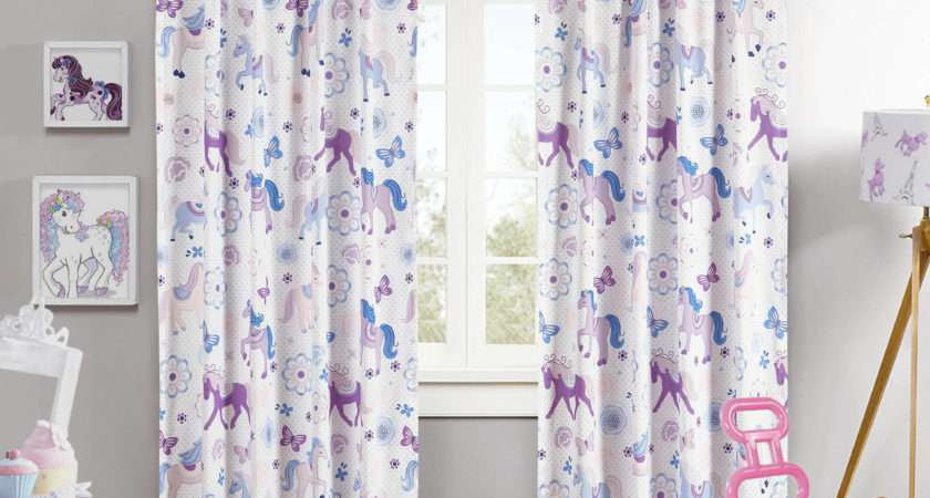 Kids Room Girls Curtain Ideas Pretty Horses