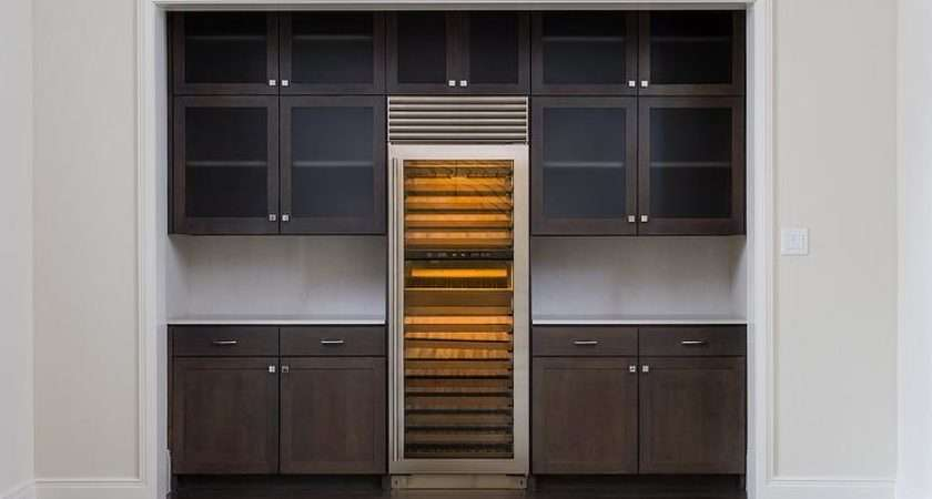Kitchen Alcove Wine Cooler Transitional
