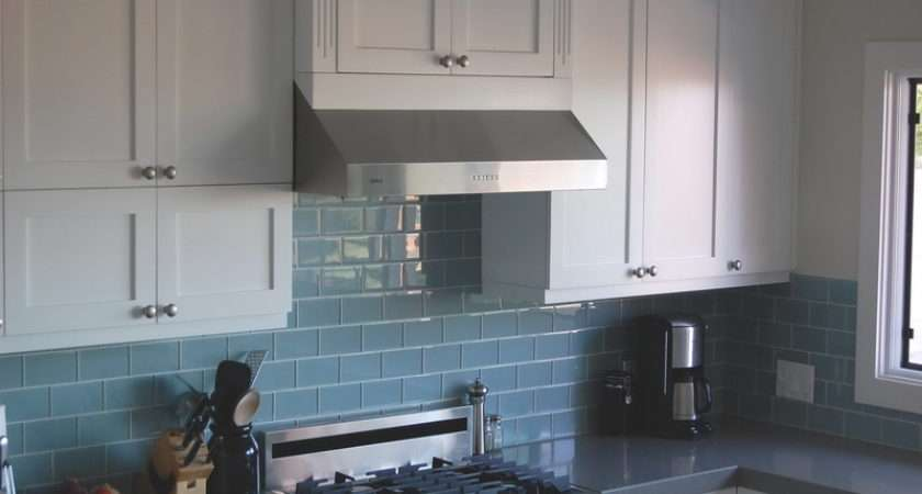 Kitchen Blue White Backsplash Tiles