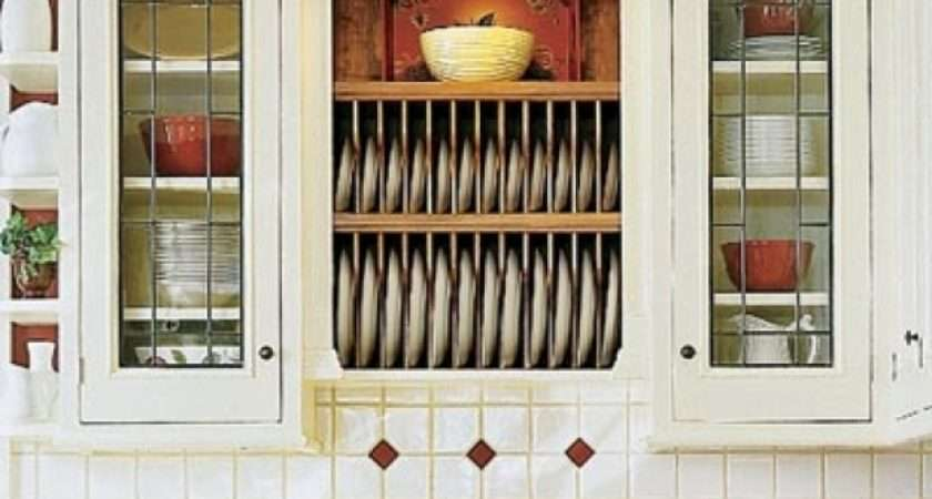 Kitchen Cabinet Plate Rack Storage Presented Your