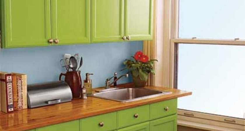 Kitchen Cabinets These Lime Green Painted