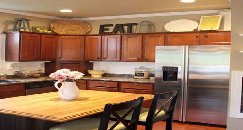Kitchen Decorate Above Cabinets Eat