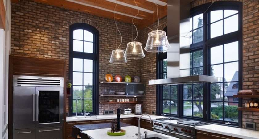 Kitchen Designs Exposed Brick Walls Housely