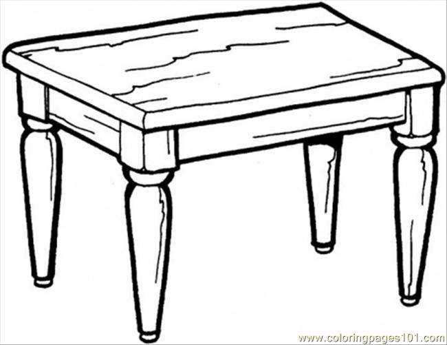 Kitchen Table Coloring Furnitures