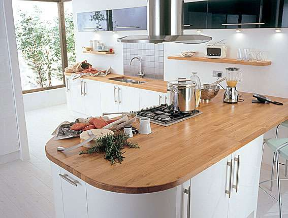 Kitchens France Solid Wood Worktops Painted