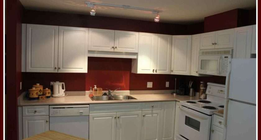 Kitchens White Cabinets Red Walls
