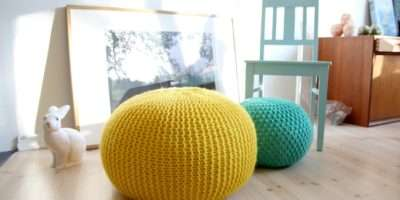 Knitted Pouf Pickles Perfect Accent Any Room Poufs