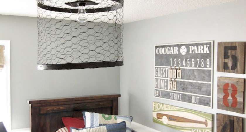 Kriskraft Chicken Wire Light Fixture