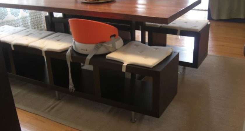 Lack Shelving Unit Dining Benches Ikea Hackers