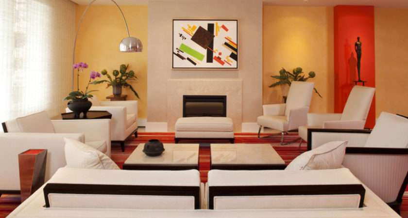 Lake Calhoun Colorful Condo Modern Living Room