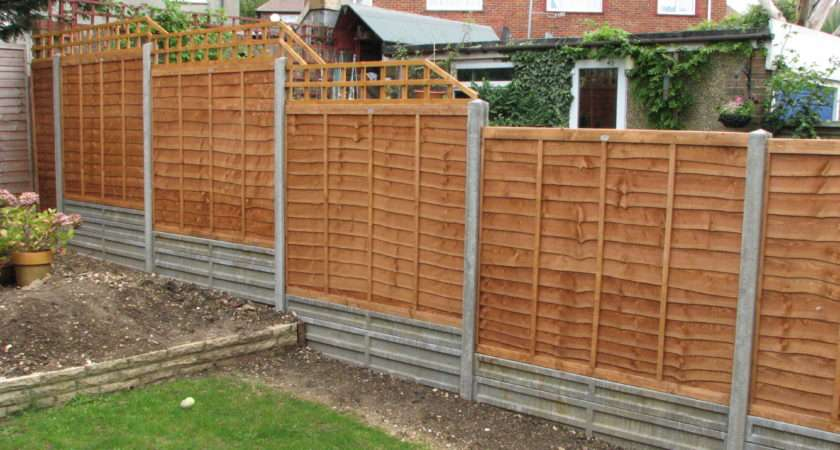 Lap Panels Used Garden Fencing Cheaper Less Sturdy Than