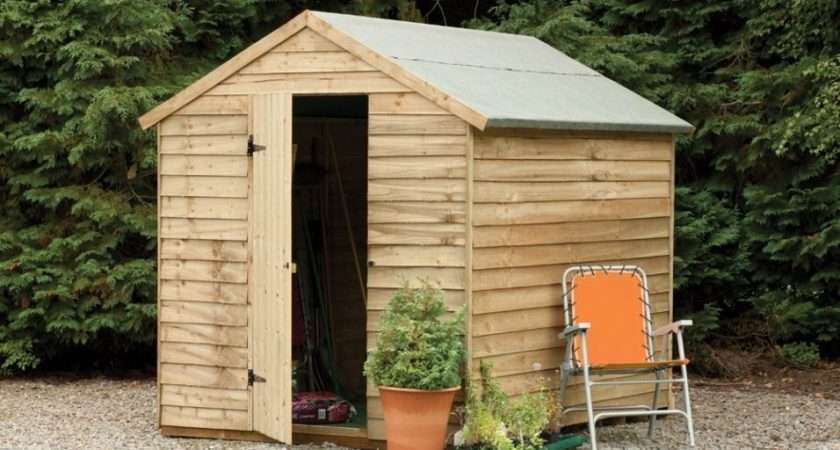 Larchlap Wooden Overlap Apex Garden Security Shed Ebay