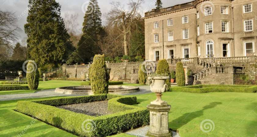 Large English Country House Garden