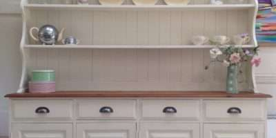 Large Hand Painted Cream Solid Pine Welsh Dresser