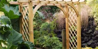Large Ultima Pergola Arch Forest Garden Products