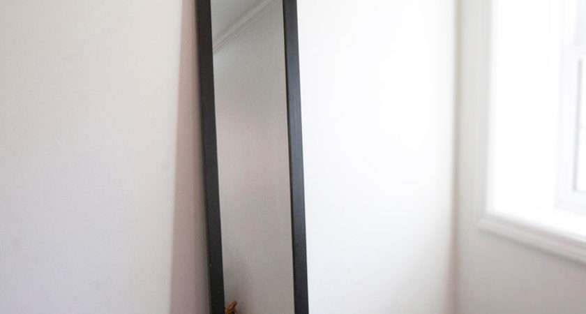 Large Wall Mirror Black Wood Frame Semi Rowansroom