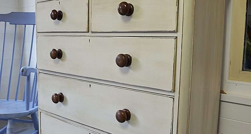 Large White Shabby Chic Victorian Chest Drawers