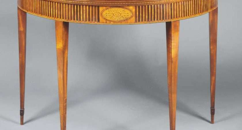 Late Century Satinwood Pier Table Attributed William Moore