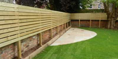 Lateral Fencing Low Maintenance Garden Olive