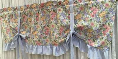 Laura Ashley Quartet Sagamore Ruffled French Style Valance Ebay