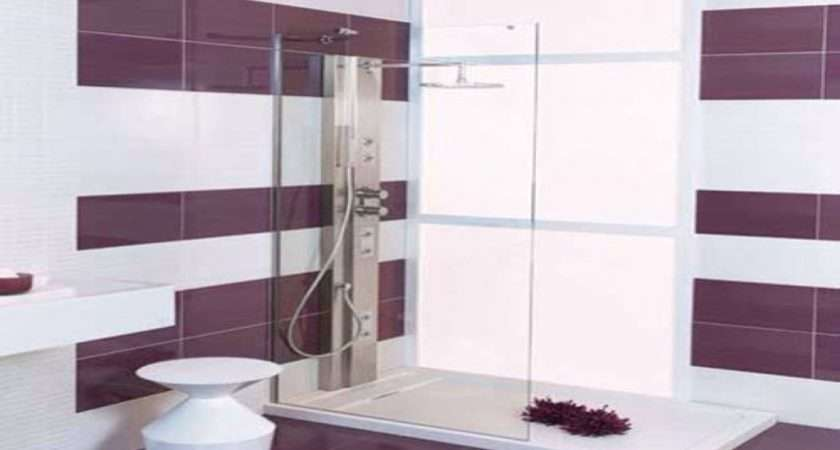 Lavender Bathroom Ideas Purple Floor Tiles