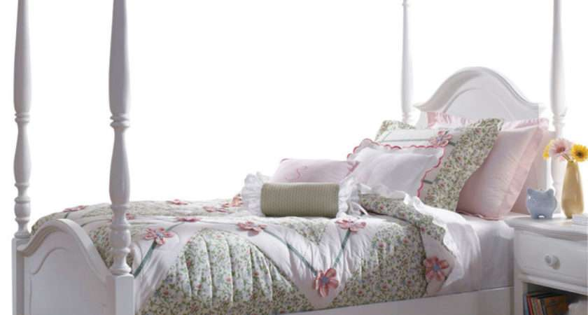 Lea Haley Poster Bed White Traditional Kids Beds