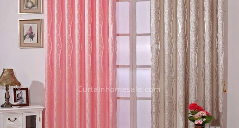Leaf Cotton Eco Friendly Girls Bedroom Curtains Pink